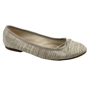 Anniel Italian ballet flats shoes beige Size 9